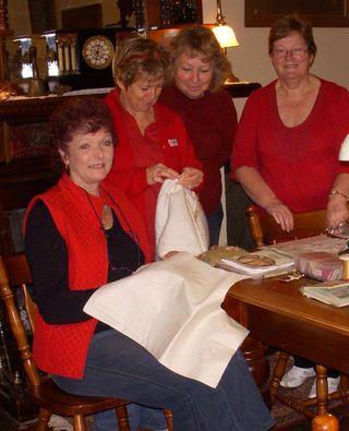 4 girls in Red