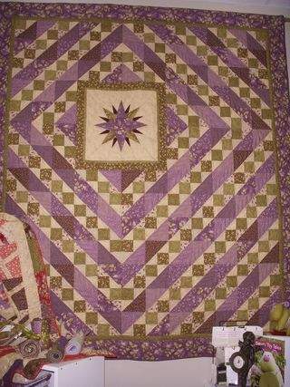 Purple & Green Quilt